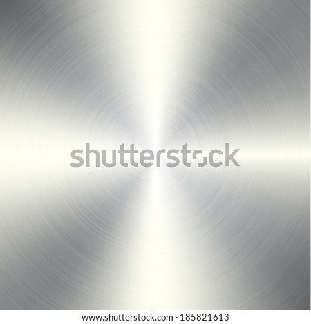 High contrast circular brushed aluminum texture - stock vector