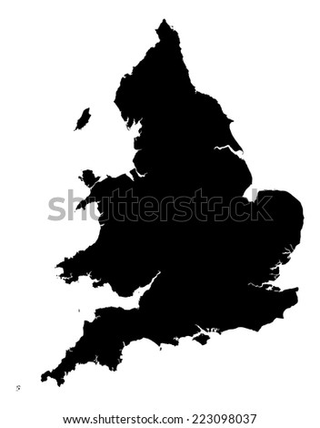 High detail of England and Wales map illustration - stock vector