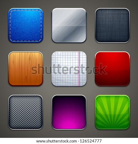 High detailed backgrounds for apps icons. Vector illustration. - stock vector