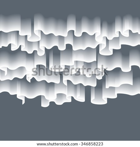 High detailed illustration of polar lights on the starry sky, EPS 10 contains transparency, mesh used. art - stock vector
