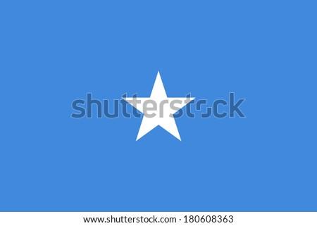 High detailed vector flag of Somalia - stock vector