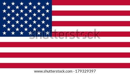 High detailed vector flag of United States  - stock vector