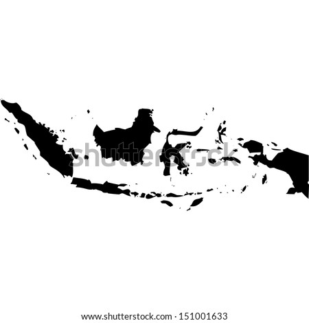 High detailed vector map - Indonesia  - stock vector