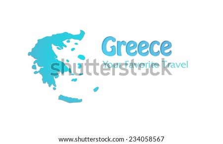 High Detailed Vector Map of Greece - stock vector