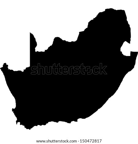 High detailed vector map - South Africa  - stock vector