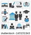 High education icons - stock vector