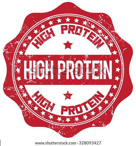 high protein stamp - stock vector