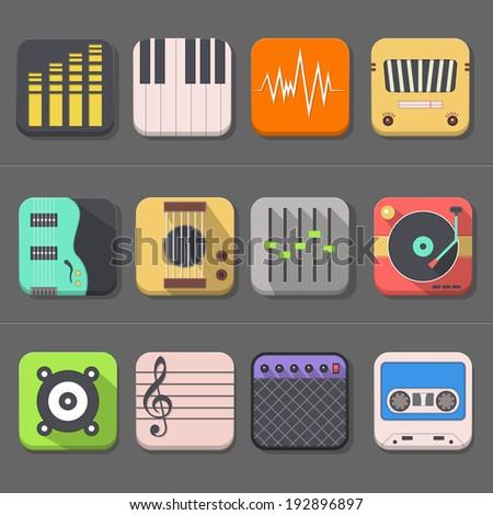High Quality Audio Icon - stock vector