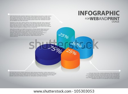 High quality minimalistic business infographic element - stock vector