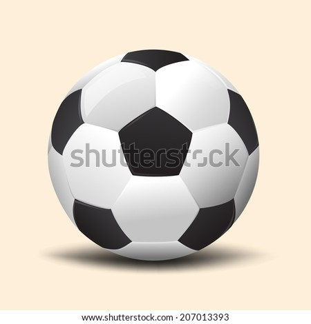 high quality realistic  soccer ball vector on background .Element for design, vector illustration - stock vector