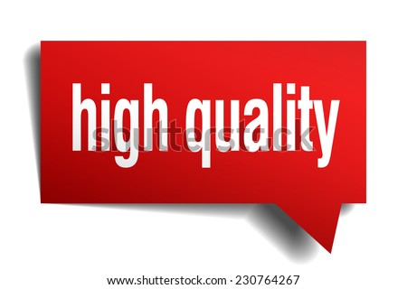 high quality red 3d realistic paper speech bubble - stock vector