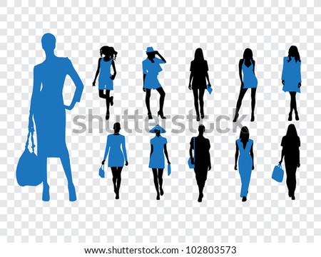 High quality traced posing - stock vector