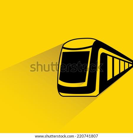 high speed modern commuter train - stock vector