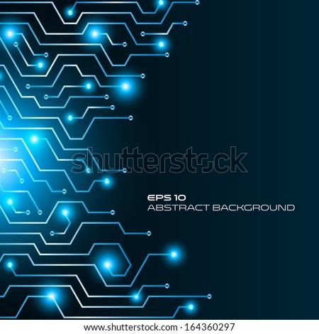 High tech abstract background, vector design - stock vector