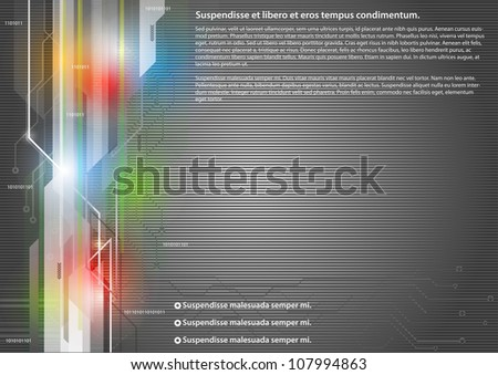 High-tech dark background - stock vector