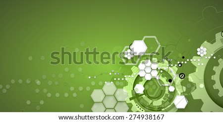 high tech eco green infinity computer technology concept background - stock vector