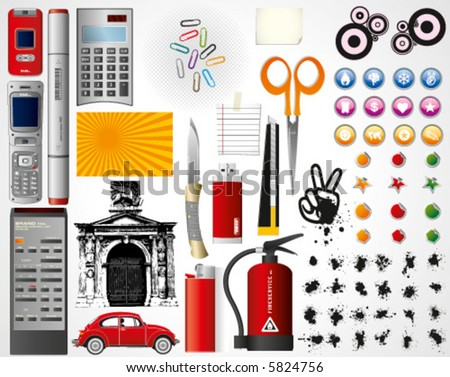 High value vector pack, over 60 high quality vectors - stock vector