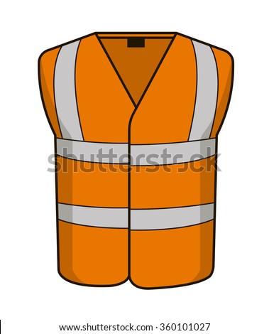 High vis vest orange - stock vector