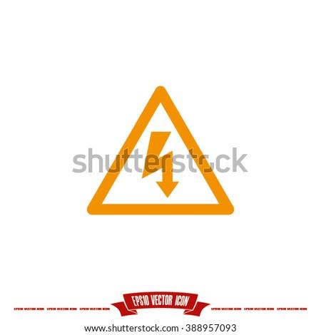 High voltage Icon Vector - stock vector