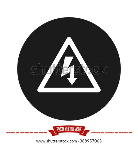 High voltage icon vector illustration eps10. - stock vector