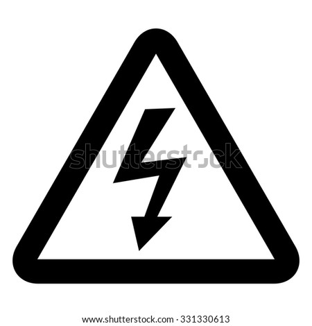 High voltage sign . Vector illustration - stock vector