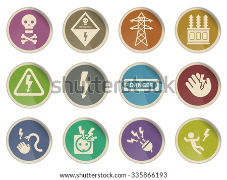 High voltage simply symbol for web icons - stock vector