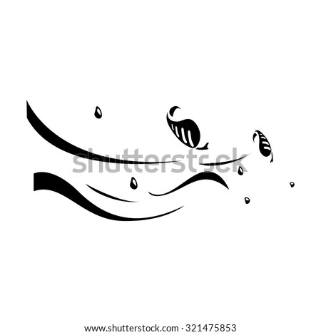 High Wind icon - stock vector