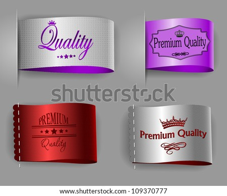 highest and premium quality textured labels - stock vector