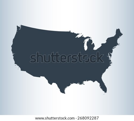 Highly detailed map of USA - stock vector