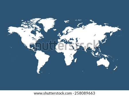 Highly detailed map of World - stock vector