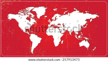 Highly Detailed World Map. All countries are separable. Vector Illustration - stock vector