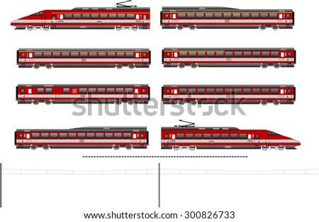 Highspeed train - stock vector