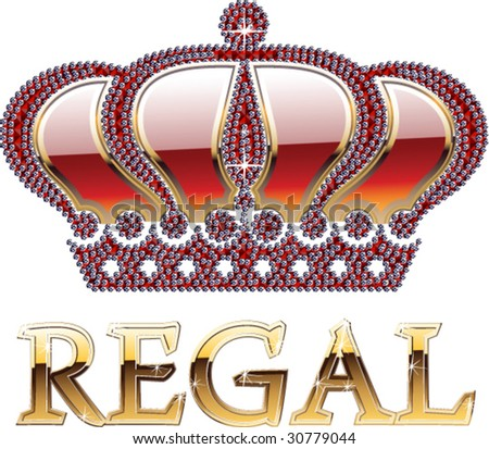 Hight detailed brilliant crown - stock vector