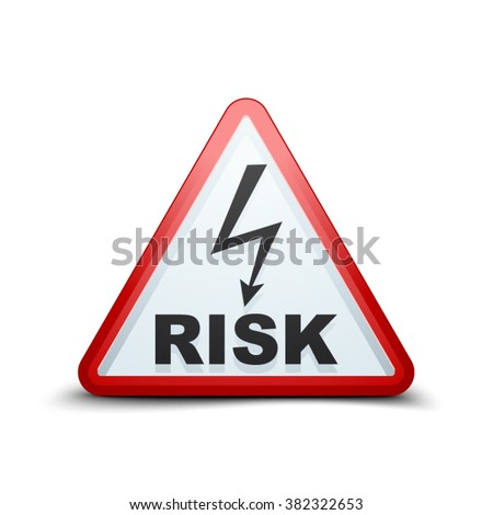 Hight Voltage Risk sign - stock vector