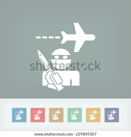 Hijacking aerial - stock vector