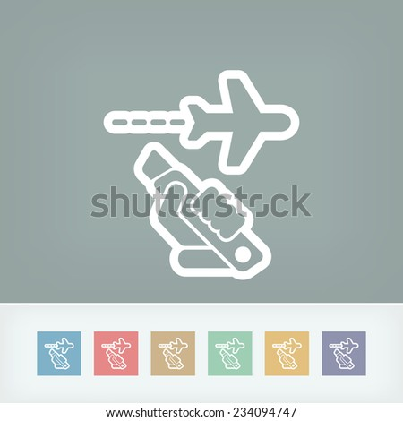 Hijacking aerial - stock vector