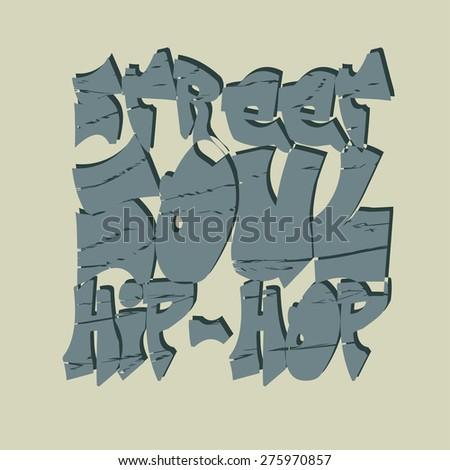 Hip-hop style emblem, T-shirt Design.  Typography fashion design. Graphic Print label - vector illustration  - stock vector