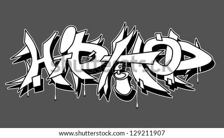 Hip Hop urban graffiti vector illustration - stock vector