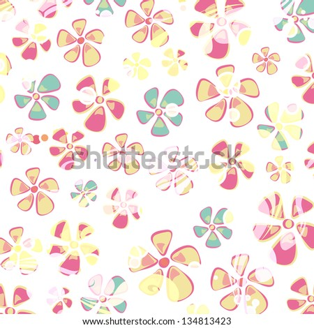Hippie colorful flower background. Vector design. - stock vector