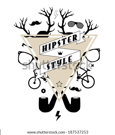 hipster abstract illustration - stock vector
