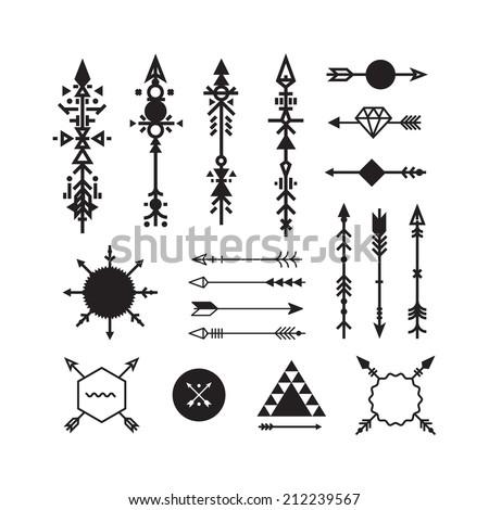 Hipster arrows - stock vector