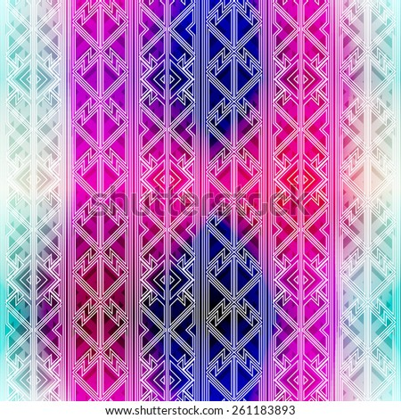 hipster bright seamless pattern - stock vector