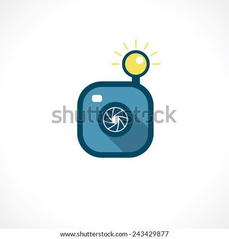 hipster camera icon - stock vector