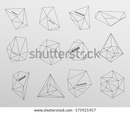Hipster cosmic background, polygonal triangles and space background - stock vector