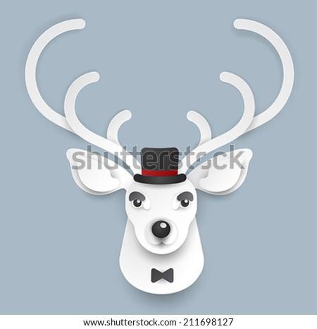 hipster deer vector illustration - stock vector