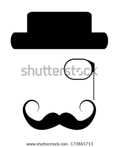 Hipster man set vector design. Creative retro style hipster collection, raster available in my portfolio. - stock vector