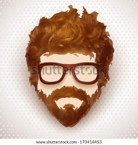 Hipster man. Vector illustration - stock vector