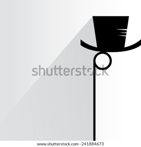 hipster mustache and eyeglass on white background, flat and shadow theme - stock vector