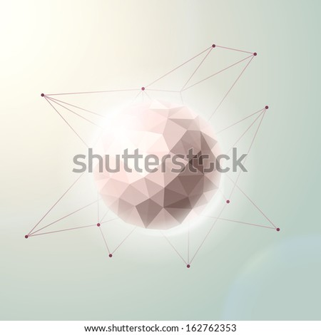 hipster mystic galaxy abstract geometric background - stock vector
