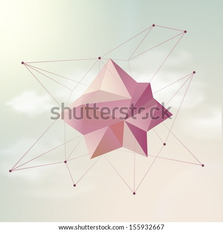 hipster  mystic galaxy sky sky with clouds - stock vector